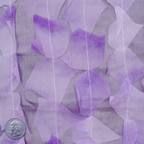 Silk Chiffon Novelty Petal Fabric 56 Lavender