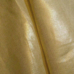 Metallic Linen 56 Silver on Khaki Medium - NY Fashion Center Fabrics