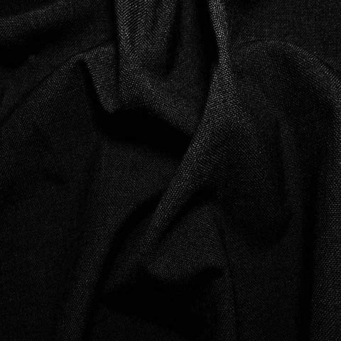 3 Ply Wool/Poly Blend Suiting 561 Black - NY Fashion Center Fabrics