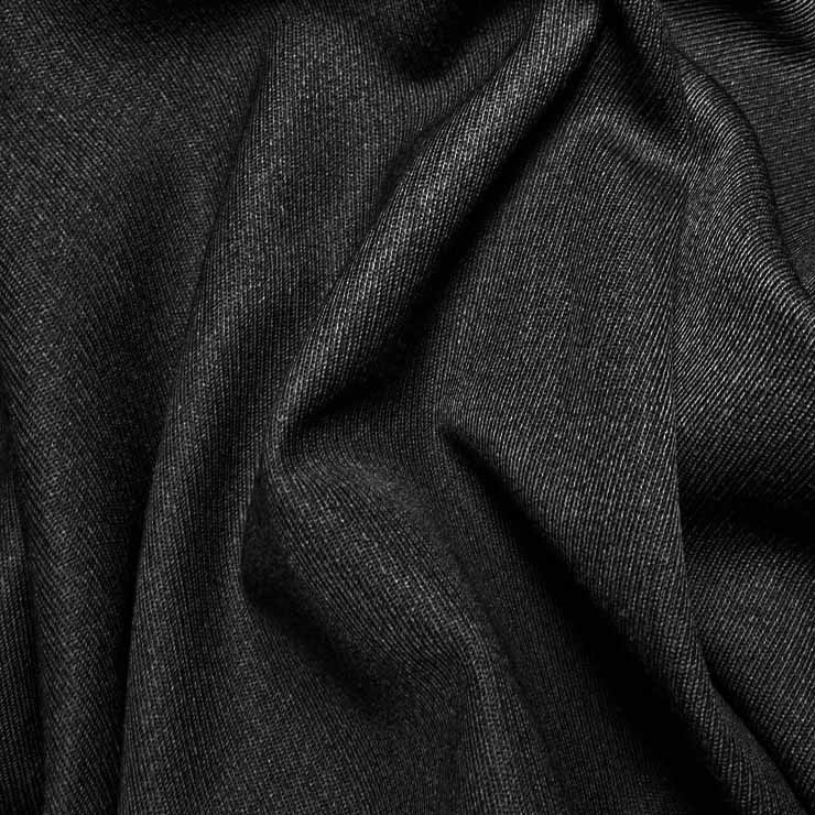 Wool Elastique Blend Fabric 561 Black