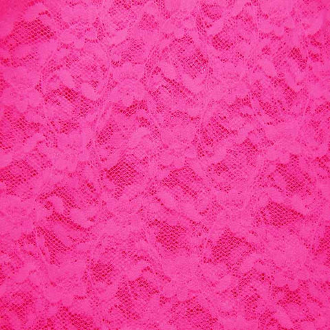 Nylon Stretch Raschel Lace 58 Cerise - NY Fashion Center Fabrics