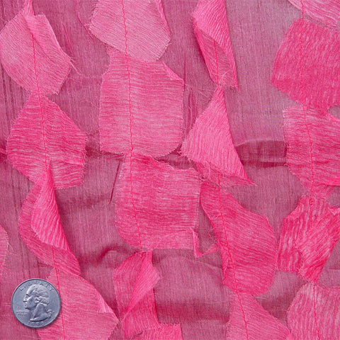 Silk Chiffon Novelty Petal Fabric 58 Pink