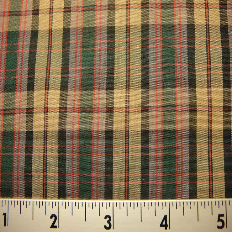 100% Cotton Plaids Fabric 58 Y D9750MUL - NY Fashion Center Fabrics