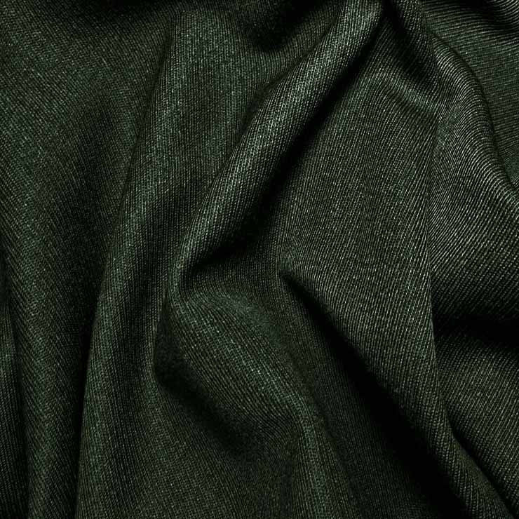 Wool Elastique Blend Fabric 590 Bottle Green