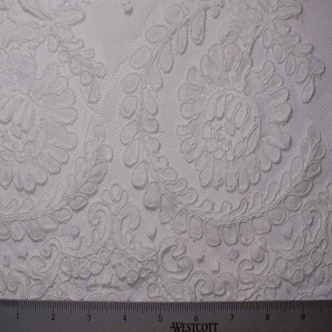 Alencon Lace #50 64 16132R 36 White - NY Fashion Center Fabrics