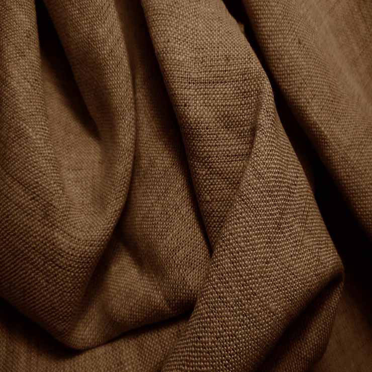 Medium Weight Linen - 6.5-oz 67 Brown Stone - NY Fashion Center Fabrics