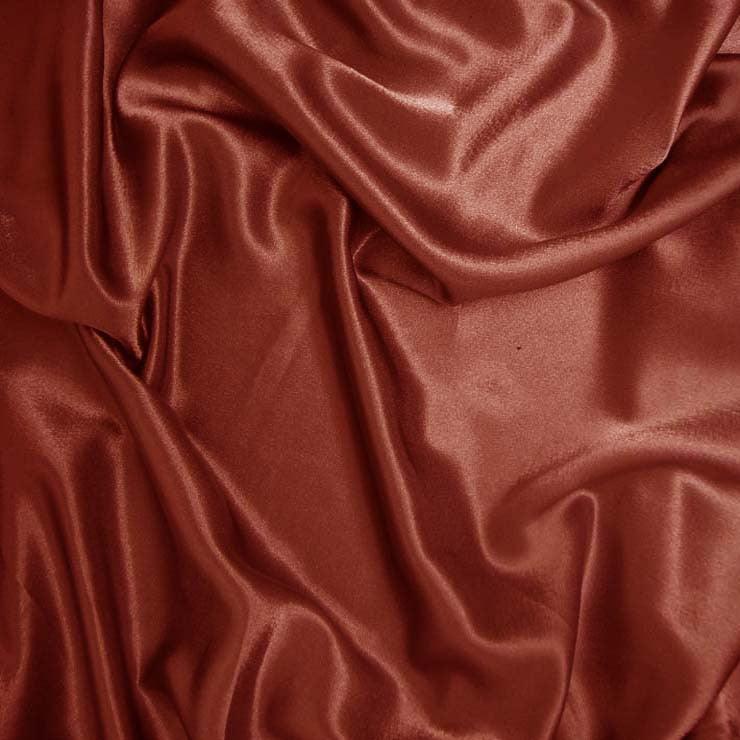 Polyester Crepe Back Satin 69 Rust