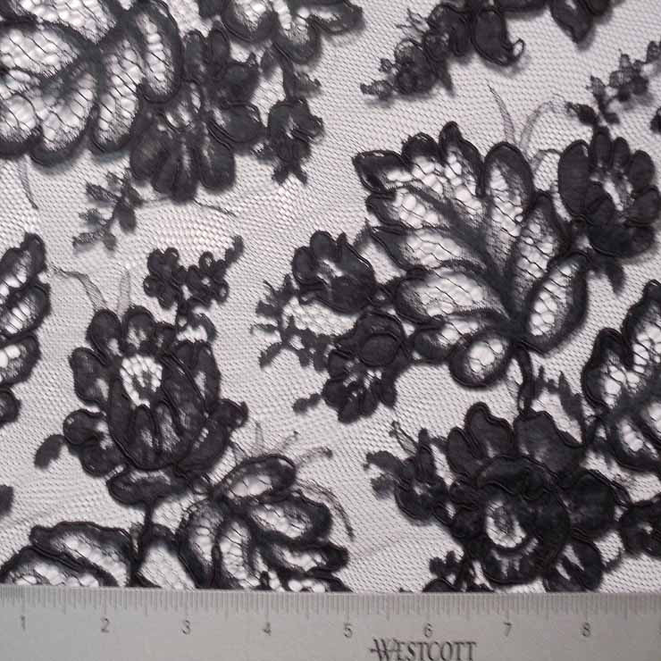 Alencon Lace #56 70 12950R 36 Black - NY Fashion Center Fabrics