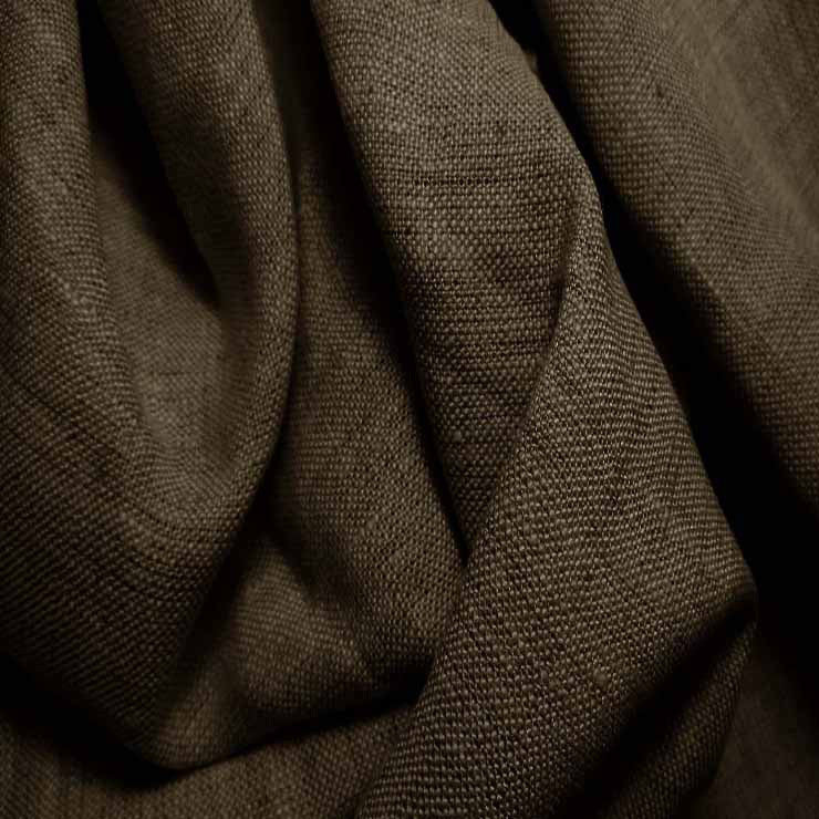 Medium Weight Linen - 6.5-oz 70 Dark Brown - NY Fashion Center Fabrics
