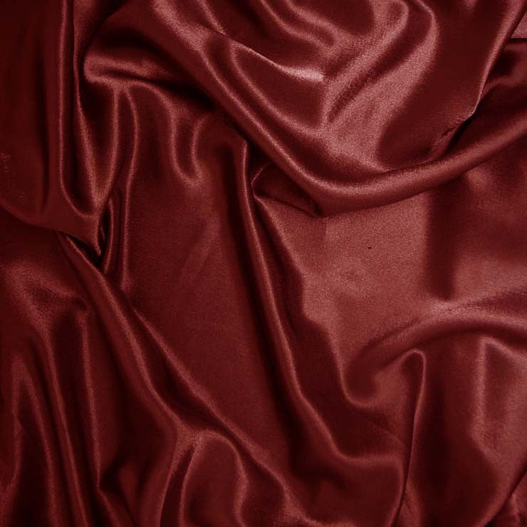 Polyester Crepe Back Satin 70 Deep Rust