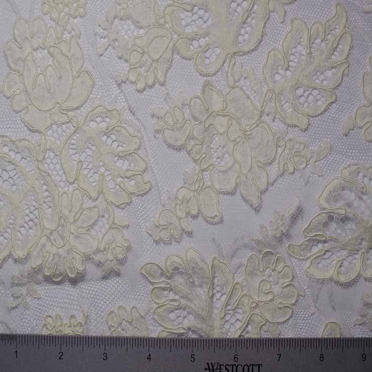 Alencon Lace #58 72 12950R 36 Ivory - NY Fashion Center Fabrics