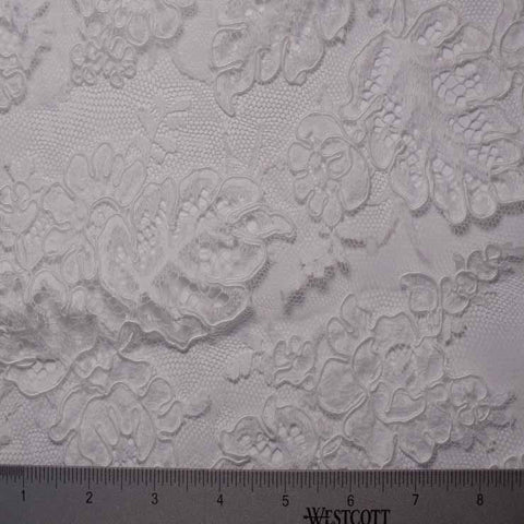 Alencon Lace #59 74 12950R 36 White - NY Fashion Center Fabrics