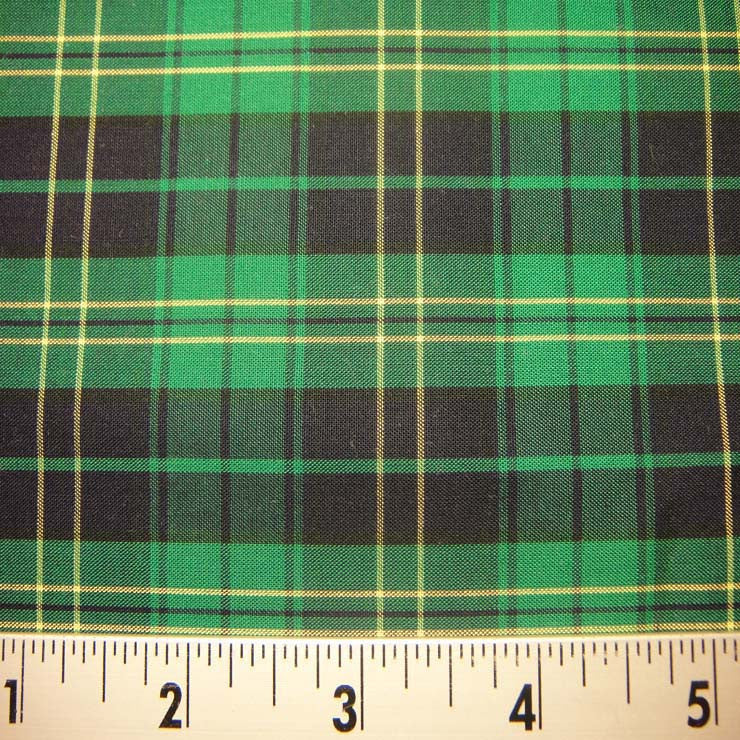 100% Cotton Plaids Fabric 75 KO 3137 Y D9702M G - NY Fashion Center Fabrics