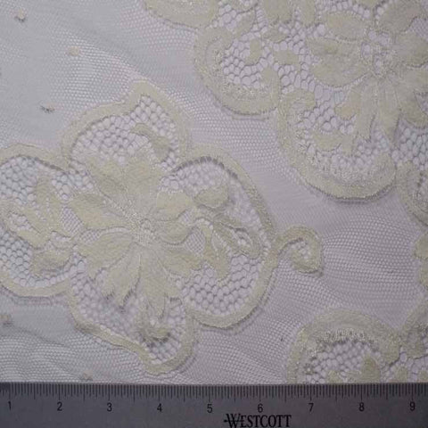 Alencon Lace #62 77 16700 60 Ivory - NY Fashion Center Fabrics