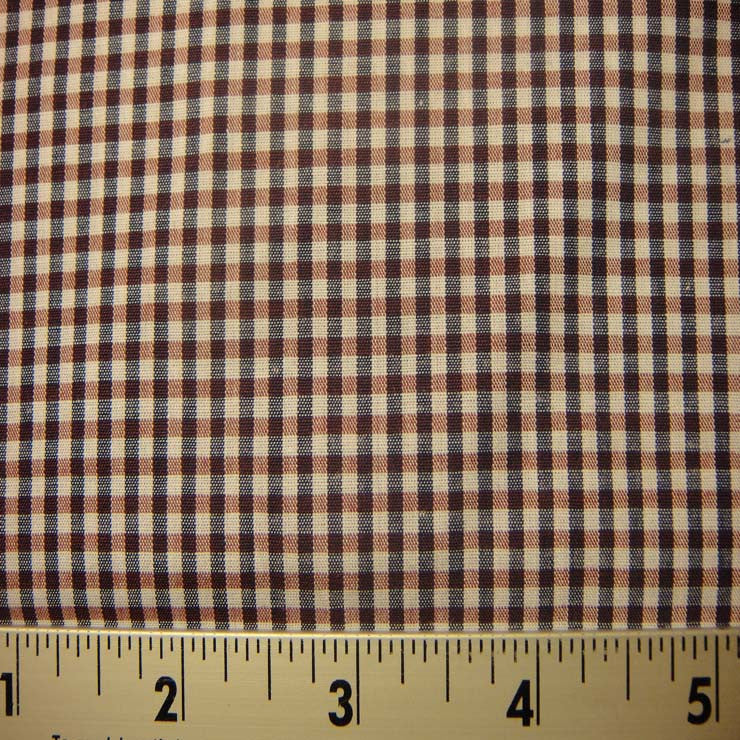 100% Cotton Fabric Checks #7 78 Y D9835N W - NY Fashion Center Fabrics