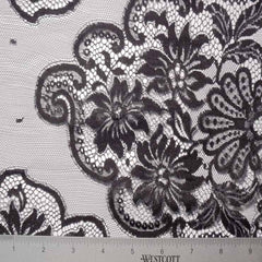 Alencon Lace #64 79 16700 60 Black - NY Fashion Center Fabrics