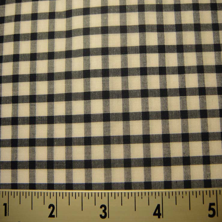 100% Cotton Fabric Checks #7 91 KO 3428 Y D8357NVY - NY Fashion Center Fabrics