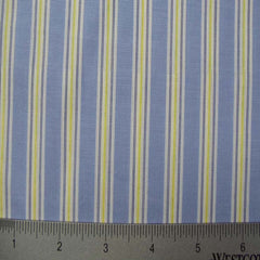 100% Cotton Fabric Stripes Collection #5 92 KO 3209 Y D0241BLU