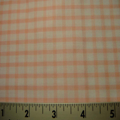 100% Cotton Fabric Checks #7 92 KO 3428 Y D8357PNK - NY Fashion Center Fabrics