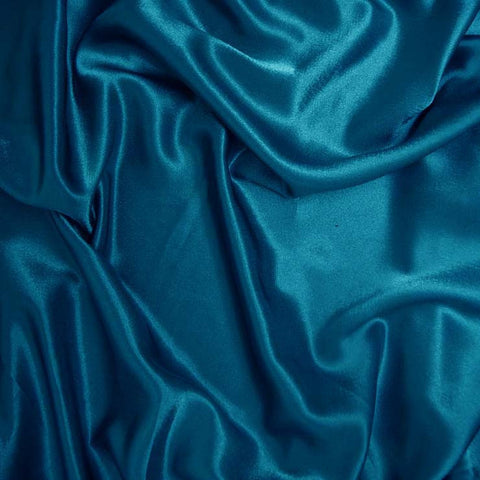 Polyester Crepe Back Satin 92 Ming Blue