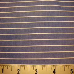 100% Cotton Fabric Stripes 95 KO 3417 Y D8606BLU - NY Fashion Center Fabrics