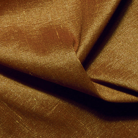 Polyester Stretch Shantung Antique Gold
