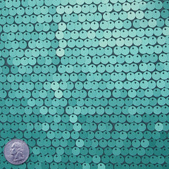 8mm Sequin Mesh Aqua - NY Fashion Center Fabrics