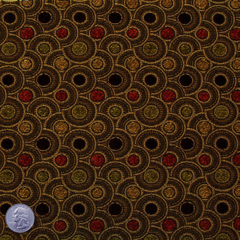 Home Decor Fabric. Bailey Cotton Polyester Autumn Brown   NY Fashion Center  Fabrics