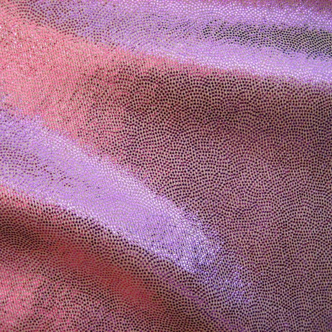 Foil Dotted Spandex 15 Yard Minimum Baby Pink - NY Fashion Center Fabrics