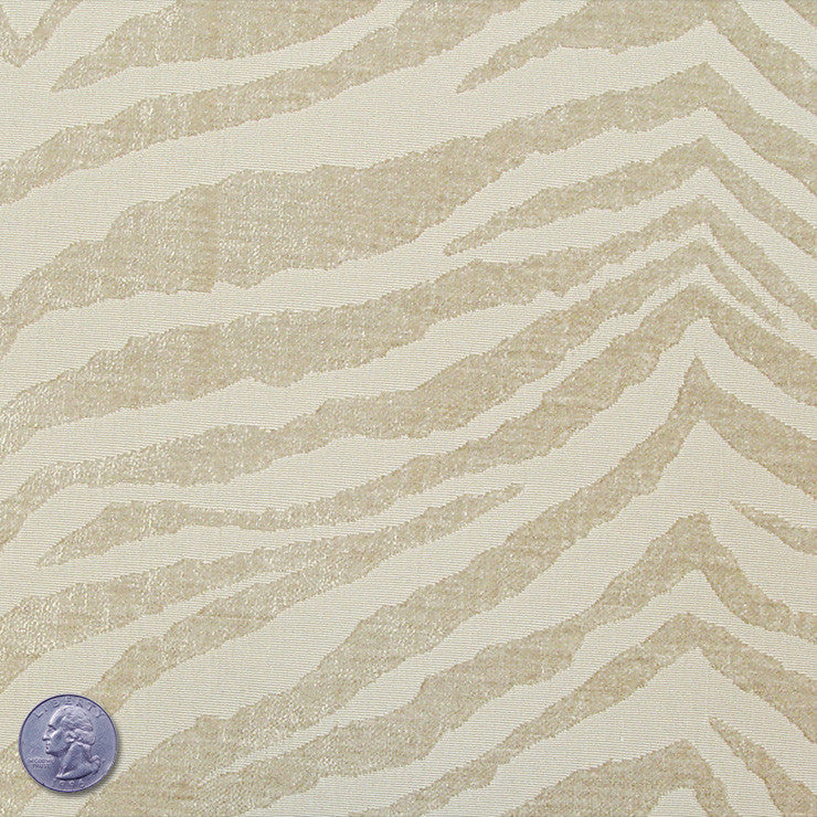 Polyester/Cotton Blend Tigerstripe Chenille Jacquard Beige