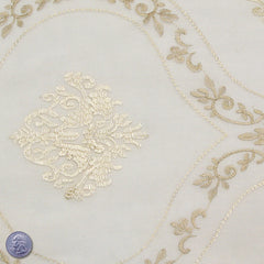 Polyester Embroidered Organza #2 Beige