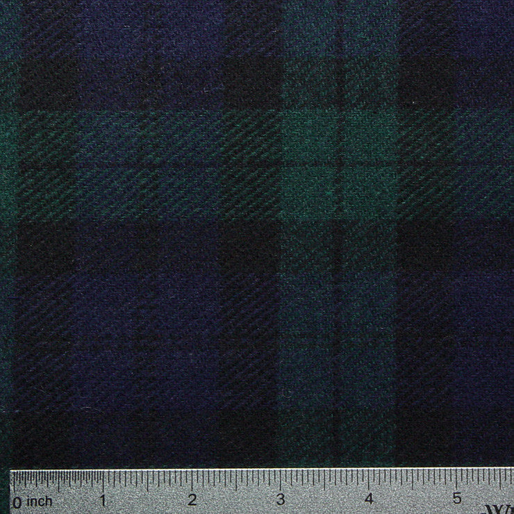 Wool Plaid Suiting Black 507 Triblend
