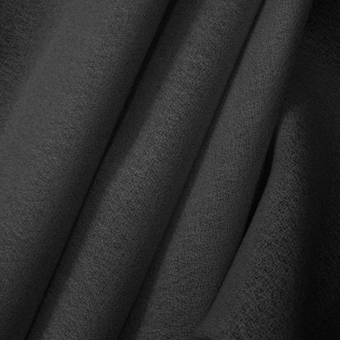 Worsted Wool Crepe Black