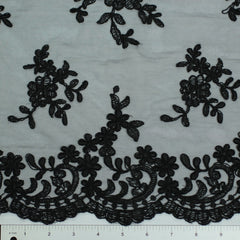 Double Scallop #80325W Black - NY Fashion Center Fabrics