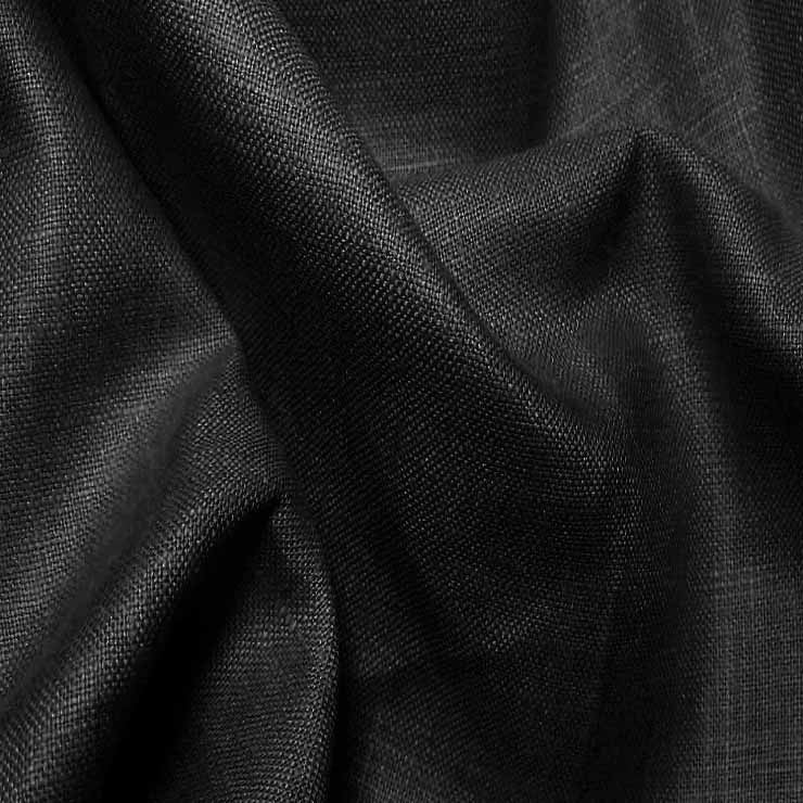 Lightweight Linen Black - NY Fashion Center Fabrics