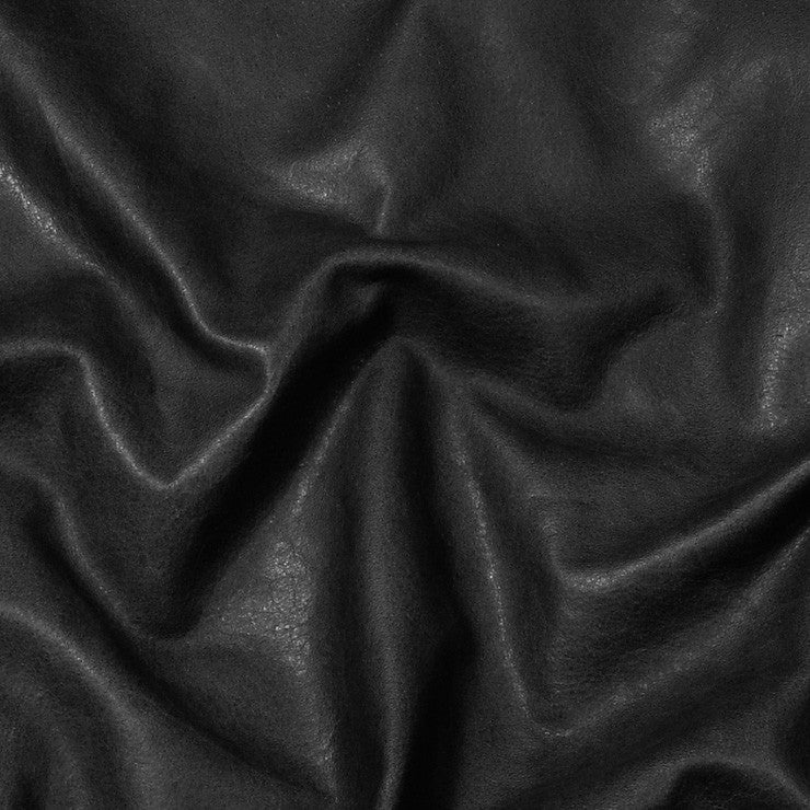 Condor Leather Black - NY Fashion Center Fabrics