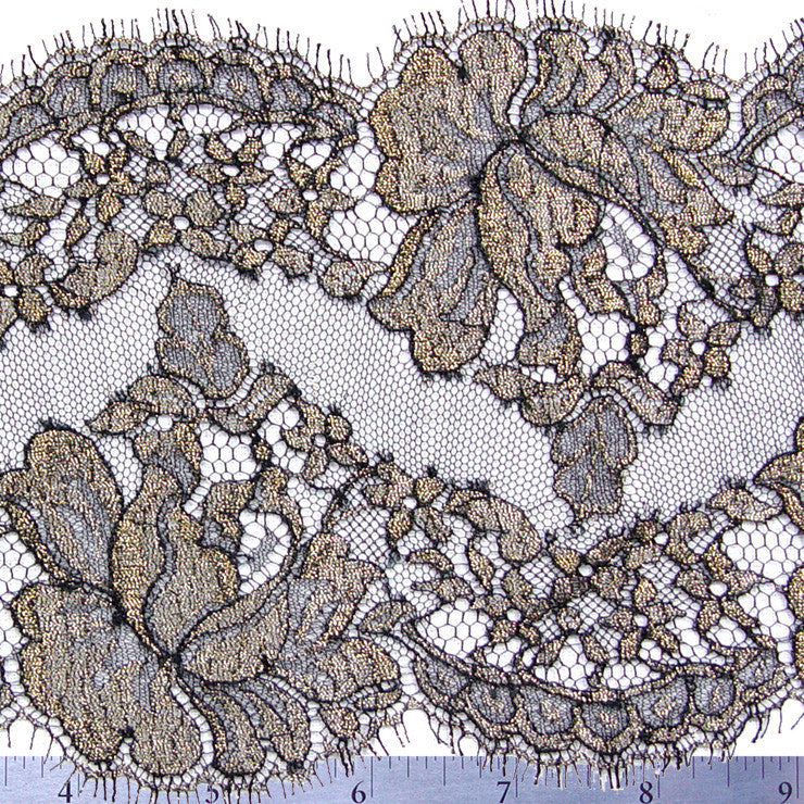 Chantilly Lace Trim 6 Inch Black - NY Fashion Center Fabrics