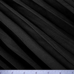 Polyester Pleated Chiffon Panel Black