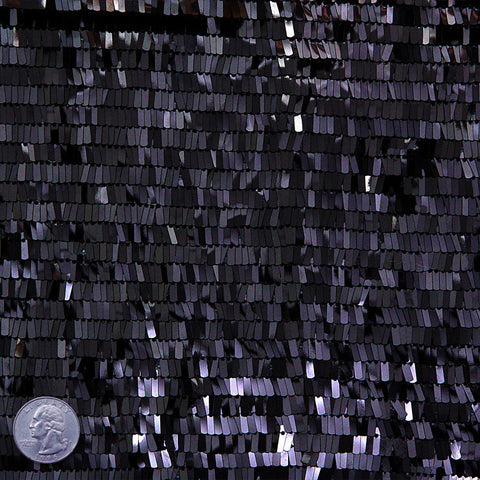 Piano Sequin Mesh Black