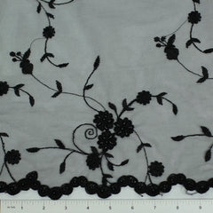 Double Scallop #84227BP Black - NY Fashion Center Fabrics