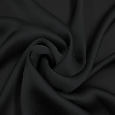 Satin Chiffon Fabric Black