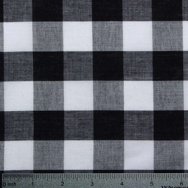 Cotton/Polyester Gingham Black - NY Fashion Center Fabrics