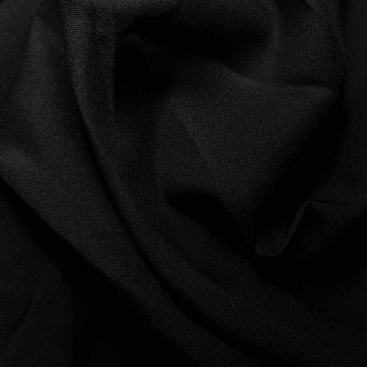 Polyester Woven Stretch Lining Black