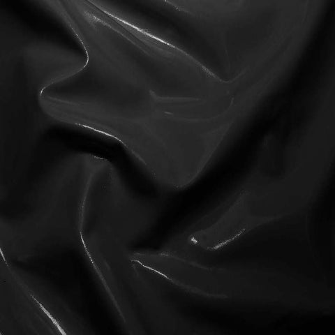 Solid PVC Vinyl Black
