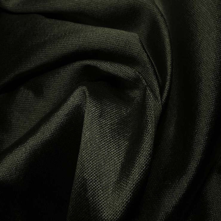 Silk Wool Fabric Black