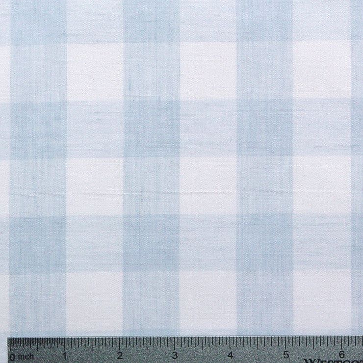 Cotton/Polyester Gingham Blue - NY Fashion Center Fabrics