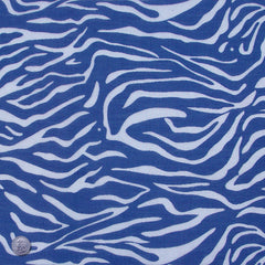 Zebra Burnout Linen Blue