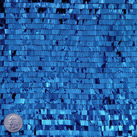 Piano Sequin Mesh Blue