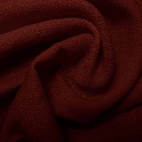 Wool Crepe Bordeaux