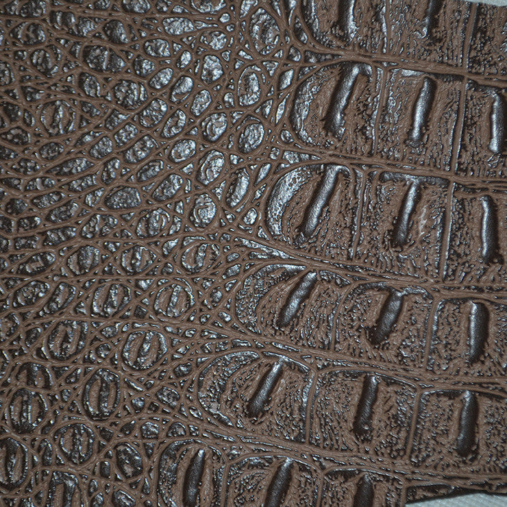 Faux Crocodile Leather Brown - NY Fashion Center Fabrics